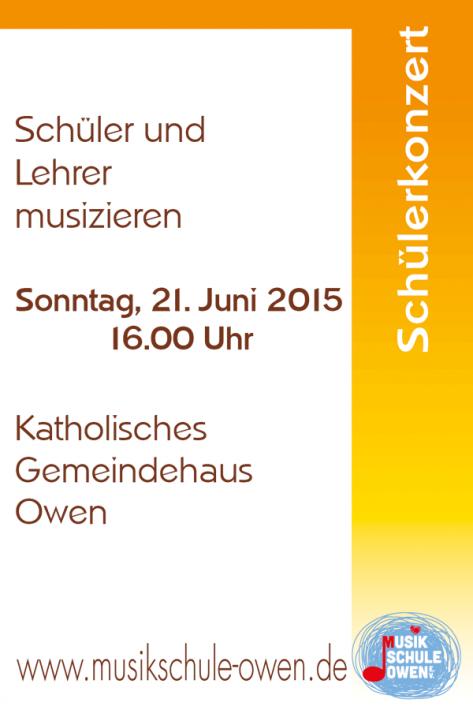 Schülervorspiel am 21. Juni 2015