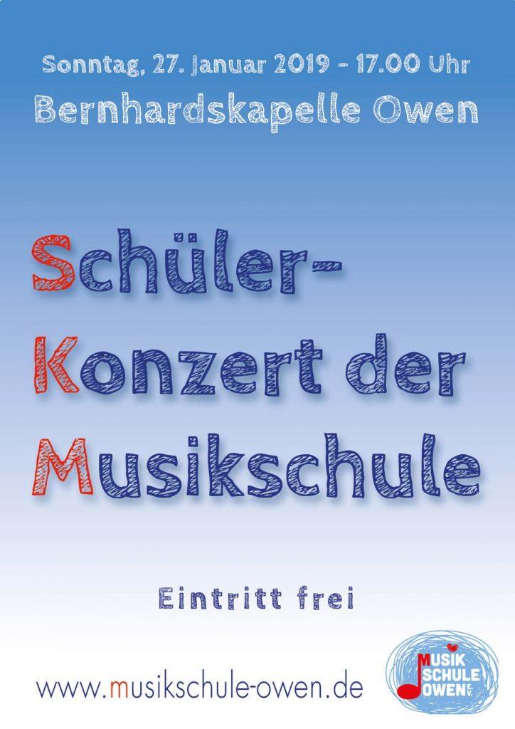 Plakat zum Schülerkonzert am 27. Januar 2019